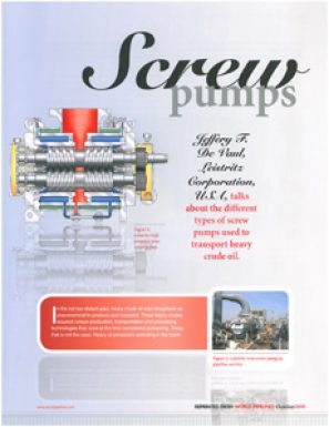 Screw Pumps - About the different types of screw pumps used to transport heavy crude oil (reprint)